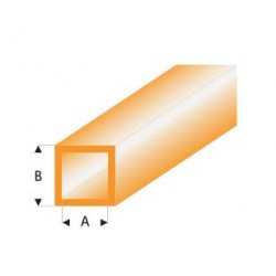 433-53 Tube plast. Carré Orange 330x2x3mm