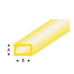 440-55 Tube plast. Rect. Jaune 330x3x6mm