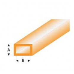441-55 Tube plast. Rect. Orange 330x3x6mm