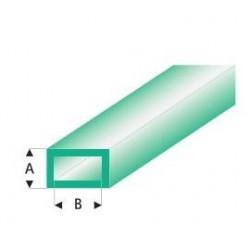 444-55 Tube plast. Rect. Vert 330x3x6mm