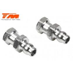 TM505220 Pièce Option - E6 Trooper / Trooper II / E6 III - Rotules d'amortisseurs en acier (2 pces)