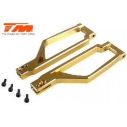 TM505222GD Pièce Option - E6 Trooper / Trooper II / E6 III - Aluminium anodisé Gold - Bras de suspension supérieur (2 pces)