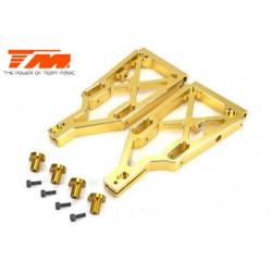 TM505223GD Pièce Option - E6 Trooper / Trooper II / E6 III - Aluminium anodisé Gold - Bras de suspension inférieur (2 pces)