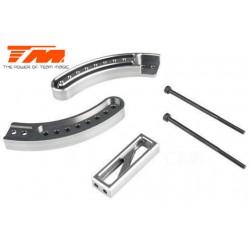 TM505224TI Pièce Option - E6 Trooper / Trooper II / E6 III - Aluminium anodisé Titane - Support réglable de roue (Wheelie Bar)