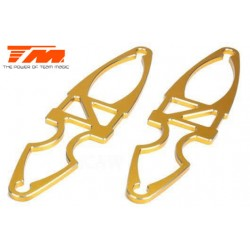 TM505225GD Pièce Option - E6 Trooper / Trooper II / E6 III - Aluminium anodisé Gold - Support d'accu (2 pces)