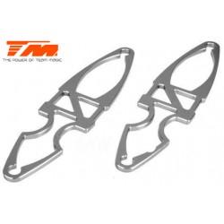 TM505225TI Pièce Option - E6 Trooper / Trooper II / E6 III - Aluminium anodisé Titane - Support d'accu (2 pces)