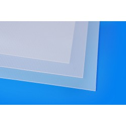 660-01 Clear Mat Wide Ribbed 328x475x1,3mm