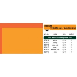 604-12 Self-Adhesive Foil Clear Orange