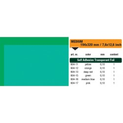 604-15 Self-Adhesive Foil Clear Green