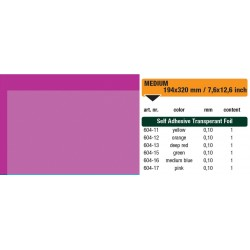 604-17 Self-Adhesive Foil Clear Pink