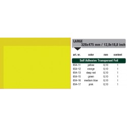 654-11 Self-Adhesive Foil Clear Yellow