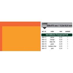 654-12 Self-Adhesive Foil Clear Orange