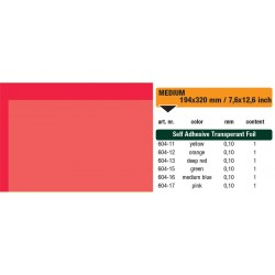 654-13 Self-Adhesive Foil Clear Deep Red