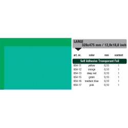 654-15 Self-Adhesive Foil Clear Green