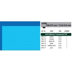 654-16 Self-Adhesive Foil Clear Med. Bleu