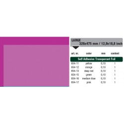 654-17 Self-Adhesive Foil Clear Pink