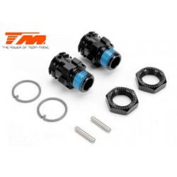 TM505231BK-10 Pièce détachée - E6 III - Hexagones de roues +10mm Set - Splined - Noir (2 pces)