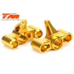 TM505235GD Option Part - E6 Trooper / Trooper II / E6 III - Aluminum Gold anodized - CNC Machined Steering Block (2 pcs)