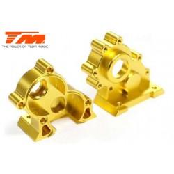TM505250GD Pièce détachée - E6 III - Aluminium anodisé Gold - Boitier de transmission central usiné CNC