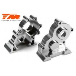 TM505250TI Pièce détachée - E6 III - Aluminium anodisé Titane - Boitier de transmission central usiné CNC