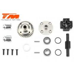 TM505307 Pièce Option - E6 III BES - Axe rigide central Kit avec corps acier