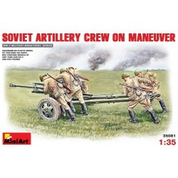 MINIART35081 Soviet Artil Crew on Maneuver 1/35