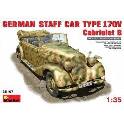 MINIART35107 German Staff Car 170V Cabr. 1/35