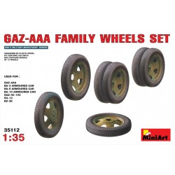 MINIART35112 GAZ AAA Wheels Set 1/35