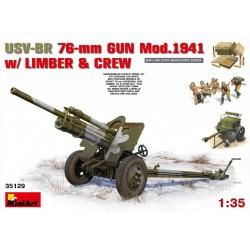 MINIART35129 USV BR76mm Gun 1941 w/Limb&Crew1/35