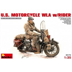 MINIART35172 U.S.Motorcycle WLA with Rider 1/35