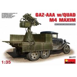 MINIART35177 GAZ-AAA w/Quad M4 Maxim 1/35
