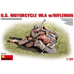 MINIART35179 US Motorecycle WLA & Rifleman 1/35