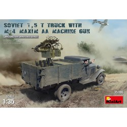 MINIART35186 Soviet 1,5t Truck & M4 Gun 1/35