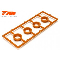 TM507116 Pièce détachée - E4RS II / EVO / JS II / JR II / E4RS III / PLUS - Excentriques de tension de courroie (4 pces)