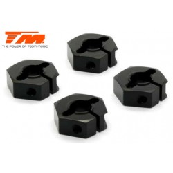 TM507140BK Pièce détachée - E4RS/JS/JR II / E4RS III / E4RS4 - Aluminium 7075 - Hexagones de roues (4 pces)