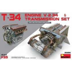 MINIART35205 T-34 Engine(V-2-34)&Trans.Set 1/35