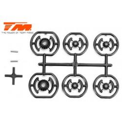 TM507206 Pièce détachée - E4RS II EVO / E4JS/JR II / E4RS III / E4RS4 - Pignons de différentiel légers (4 pces)