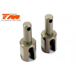 TM507208 Pièce détachée - E4RS II EVO / E4RS III / E4RS4 - Aluminium - Sorties de différentiel légères (2 pces)