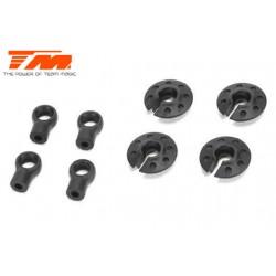 TM507233 Pièce détachée - E4RS II EVO / E4RS III / E4RS4 - Low CG - Chapes et Pièces d'amortisseurs Nylon Set (4 pces)