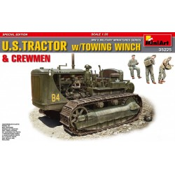 MINIART35225 US Tractor w/Towing Winch&Crew 1/35