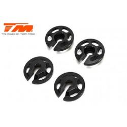 TM507278 Pièce Option - E4RS II / EVO - Aluminium 7075 - Coupelles de ressorts d'amortisseurs (4 pces)