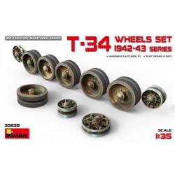 MINIART35239 T-34 Wheels Set. 1942-43 1/35