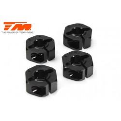 TM507287 Pièce Option - E4RS/JS/JR II / E4RS III / E4RS4 - Aluminium 7075 - Hexagones de roues +0.75mm (4 pces)