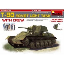 MINIART35243 T-80 Sov.Light Tank w/Crew 1/35