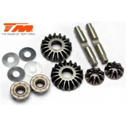 TM507294 Pièce Option - E4RS II EVO / E4JS/JR II / E4RS III / E4RS4 - Set de pignons de différentiel en métal (4+2)