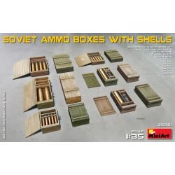 MINIART35261 Soviet Ammo Boxes w/Shells 1/35
