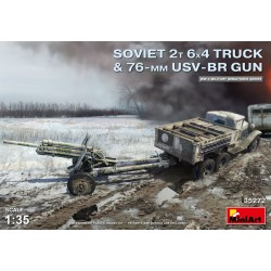 MINIART35272 Soviet 2T 6x4 Truck & 76mm Gun 1/35