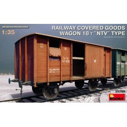 MINIART35288 Railway Covered Wagon 18t. NTV 1/35