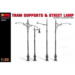 MINIART35523 Tram Sup.&Street Lamps 1/35