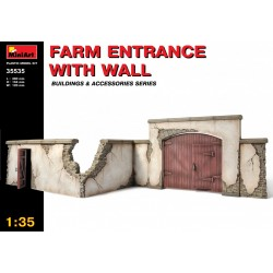 MINIART35535 Farm Entrance w/ Wall 1/35